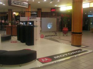 Touch foil applied to glass motorola mall activation 2