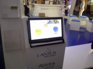 sanofi-touch-screen-in-exhibition-stand